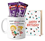 Tied Ribbons Rakhi Gift Sister, Raksha Bandhan Gifts for Sister Printed Coffee Mug with Dairy Milk Chocolates and Greeting Card