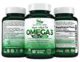 Vegan Omega 3 Algal Oil by Majen Wellness, DHA Vegan is 100% Plant Based Omega 3, Unmatched Purity, Omega 3 Triglyceride Form for Max Absorption Rate, 100% Vegan, 400mg â 30 Day Supply