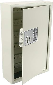 PrimeMatik - Armario de Llaves con 60 Ganchos. Caja Fuerte con código electrónico 35x13x55cm Beige: Amazon.es: Electrónica