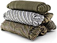 Camouflage Braided Rope 1/4 Inch All Purpose Utility Cord Lightweight Strong Versatile Minimal Stretch Strand