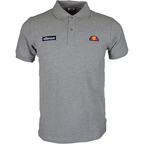 ellesse Montura Regular Fit Basic Logo Grey Polo M Grey