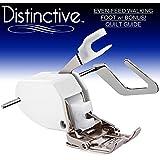 Distinctive Premium Even Feed Walking Sewing Machine Presser Foot with BONUS! Quilt Guide