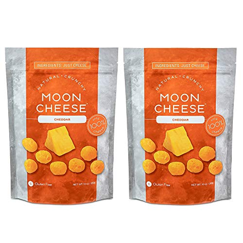 - Moon Cheese 10 OZ, Pack of Two, Cheddar, 100% Cheese and Gluten Free