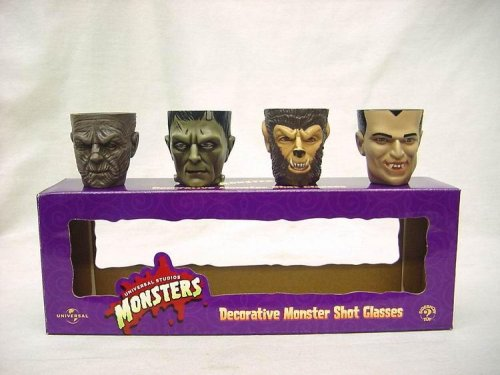 Universal Studios Monsters Decorative Shot Glasses Set of 4 from Monsters