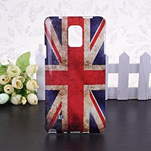 Wkae@ Samsung Galaxy Note 4 Protective Cover Case - The UK Flag Pattern Soft TPU IMD Back Cover Case for Samsung Galaxy Note 4