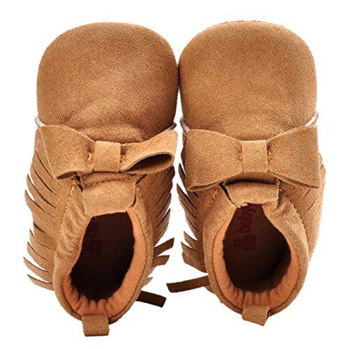 leap frogInfant Girl Moccasins Boots - Bota Mocasín Bebé-Niños caqui