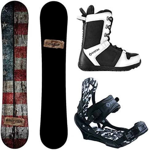 Camp Seven Drifter and APX Men s Complete Snowboard Package 2020 New