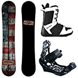 Camp Seven Drifter and APX Men's Complete Snowboard Package New