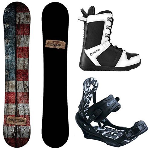Camp Seven Drifter and APX Men's Complete Snowboard Package New (153 cm, Boot Size 9)