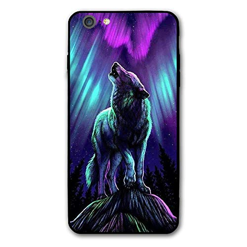 SRuhqu Howling Wolf Shock Absorption Anti-Scratch Slim Fit Hybrid TPU PC Frame Soft Back Cover Protective IPhone 6 Plus Case ()
