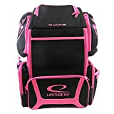 Latitude 64 DG Luxury E3 Black/Pink Backpack Disc Golf Bag