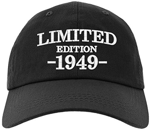 Cap 1949-70th Birthday Gifts, Limited Edition 1949 All Original Parts Baseball Hat 1949-EM-0002-Black