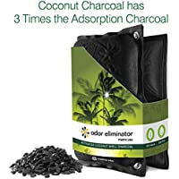 Odor Eliminator by Metric USA Coconut Shell Charcoal Natural 3 Times Adsorption Capacity of Bamboo Charcoal Naturally Eliminate Odors in your Home Closet Office