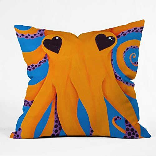 Deny Designs Mandy Hazell Wish I Was An Octopus Throw Pillow, 20 x 20