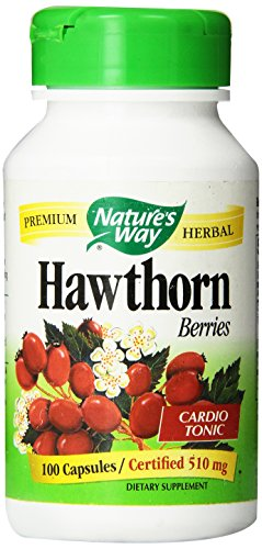 Nature's Way Hawthorn Berries Capsules, 510 mg, 100 (Hawthorn 100 Capsules)