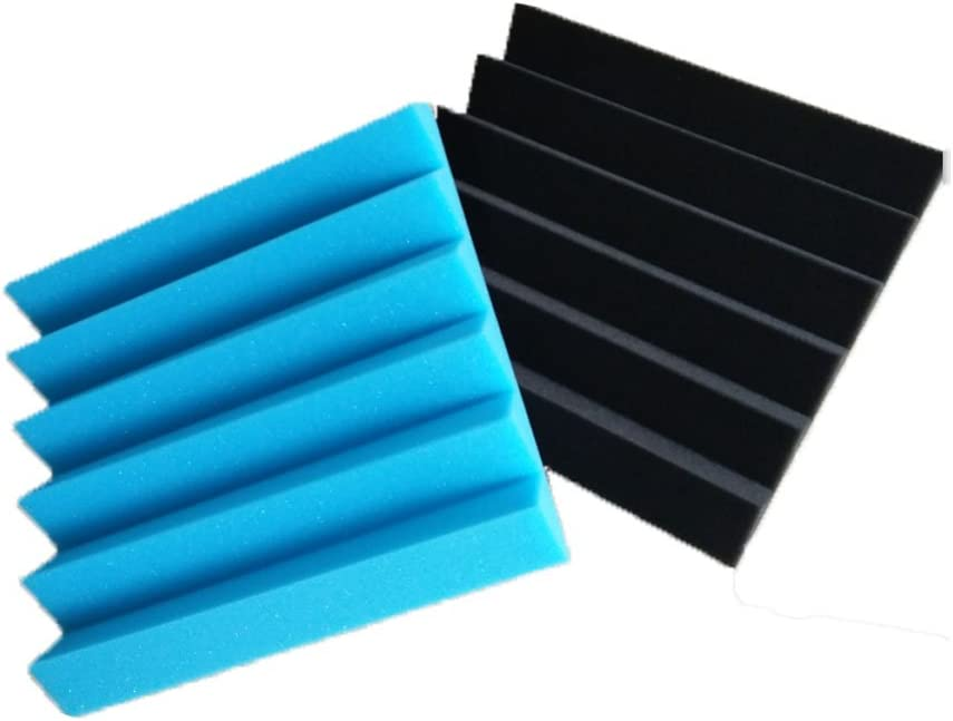 12PCS 12 Pack Black/&Blue Acoustic Panels Studio Foam Wedges 2 X 12 X 12 30305CM, Black/&Blue