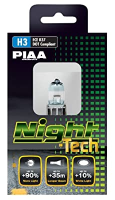PIAA 70385 H3 Night-Tech 55W=100W Halogen Bulb