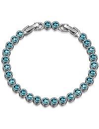 Bracelet Ballad for Adeline Blue Tennis Bracelet 6.4