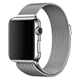 Apple Watch Band - Magnet Closure, 38mm Milanese Loop Stainless Steel Bracelet Strap, Replacement Wrist Band for iWatch (Silver)