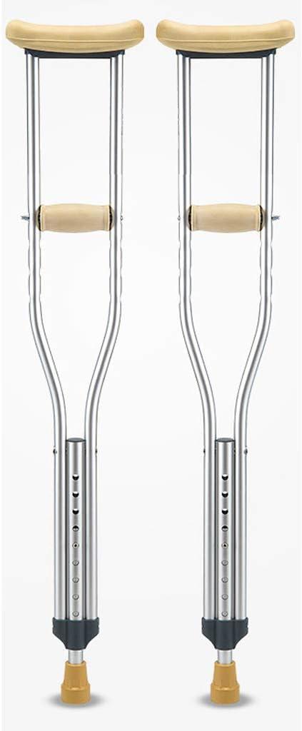 LYGT- ペアの軽量アルミニウムの脇の下の腋窩の松葉杖肘の前腕調節可能なウォーキングスティック (サイズ さいず : L l)  L l
