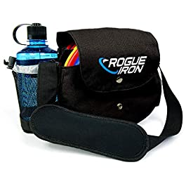 Rogue Iron Disc Golf Bag- Sling Tote Bag for Frisbee Golf – Holds 1-9 Discs, Water Bottle, and Accessories