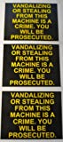 3-pack Generic Vandalizing / Stealing Vending Machine Warning Stickers