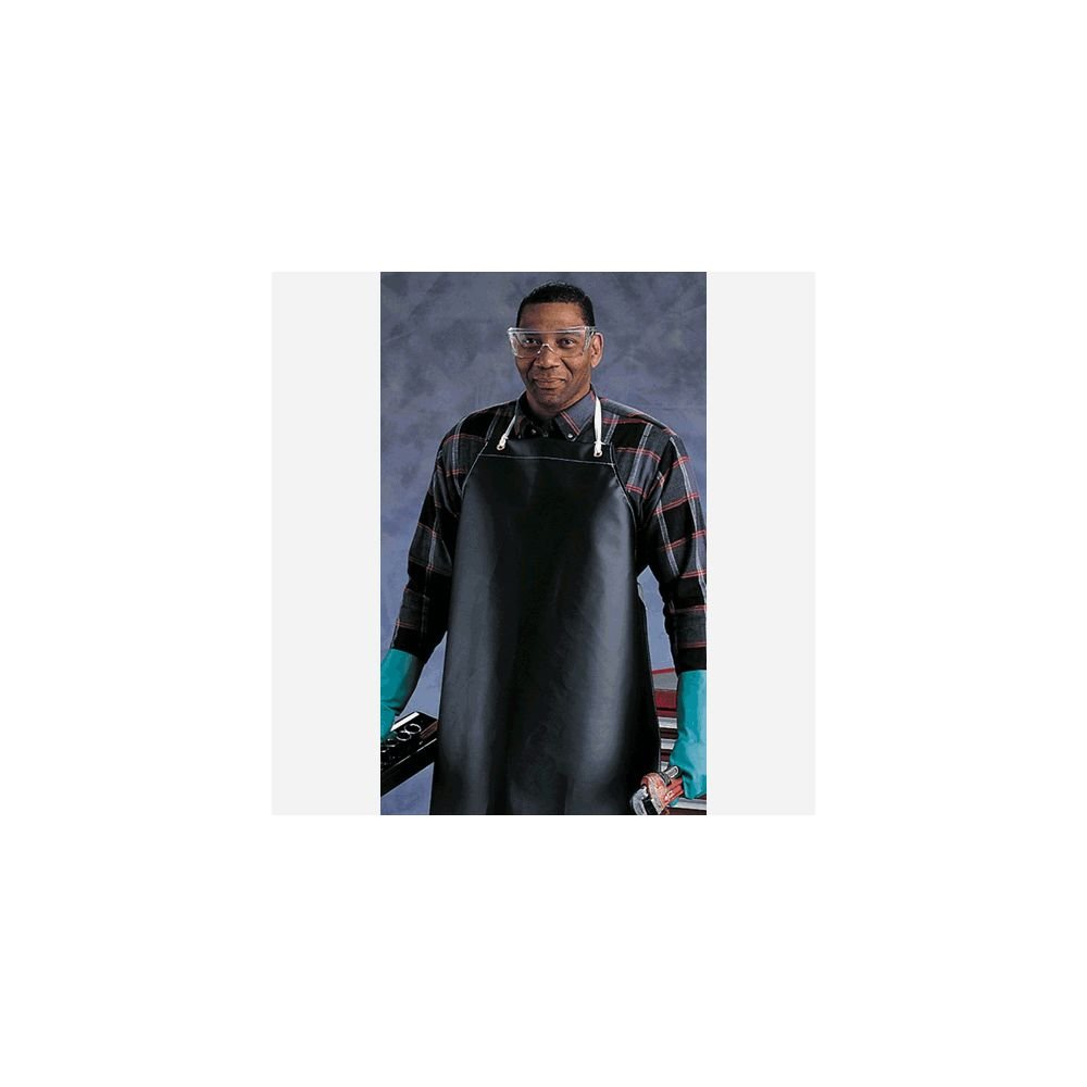 Ansell Edmont 950290 CPP Heavyweight Hycar Apron, 18 oz., 35'' x 45'', Black