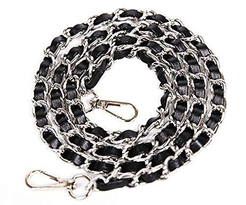 chain Bag for Handbag Leather Replacement Angelkiss 4inch Shoulder body Bag Long PU Grip Wide Purse DIY Shoulder bag sliver Cross Strap 49inch Handbag 0 rZRZwqg8