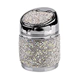 eing Portable Auto Car Cigarette Ashtray Ash Bling Crystal Smokeless Stand Cylinder Cup Holders