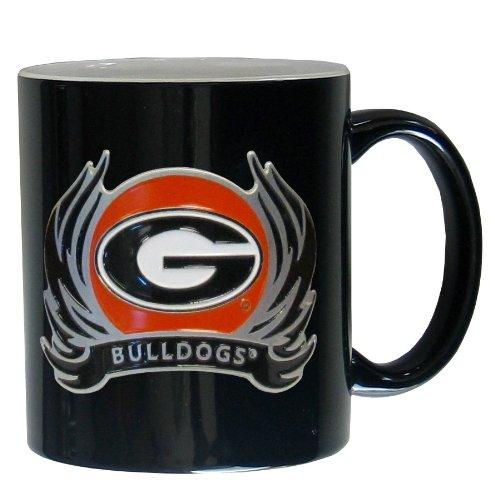 NCAA Georgia Bulldogs Ceramic Coffee Mug with Flame (Ncaa Georgia Bulldogs Ceramic)