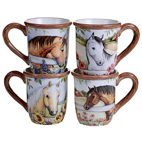 - Certified International 16132SET/4 FBA_21910 Heartland 18 oz. Mugs, Set of 4, Multicolor