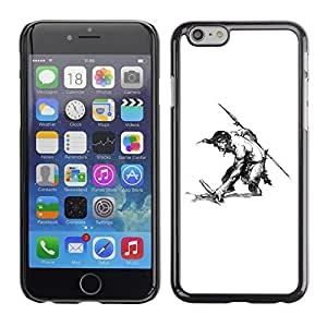 Shell-Star Arte & diseño plástico duro Fundas Cover Cubre Hard Case Cover para Apple iPhone 6 Plus(5.5 inches)( Man Warrior Sword Spear Shirtless Drawing Art )