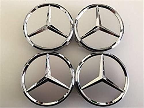 HangsdsHehd Tapacubos de coche (4 x 75 mm, logo Mercedes ...