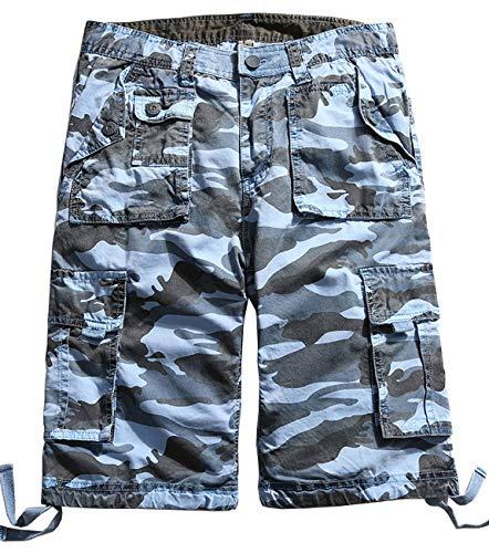 HOW'ON Men's Cotton Multi Pocket Cargo Shorts
