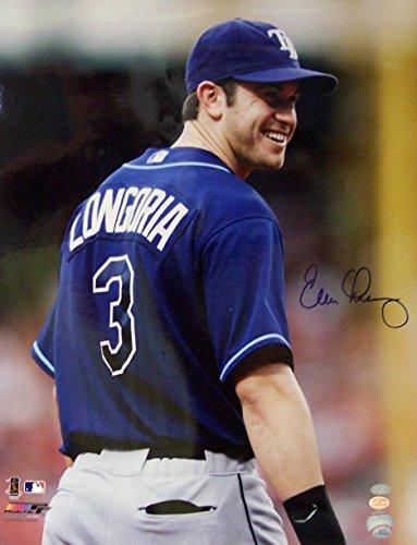 Autographed Evan Longoria Photograph - 16 x 20 - Autographed MLB Photos