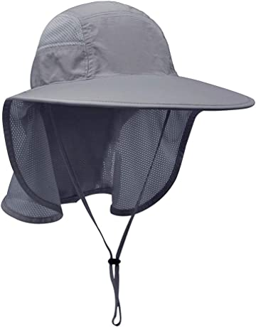5eda2115 Lenikis Unisex Outdoor Activities UV Protecting Sun Hats with Neck Flap