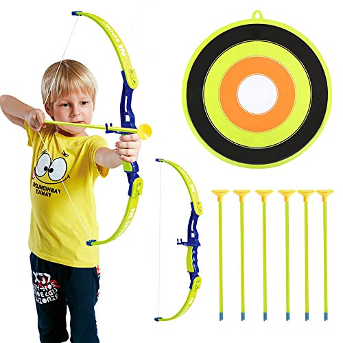Conthfut Archery Set Kids Green Bow and Arrow Play