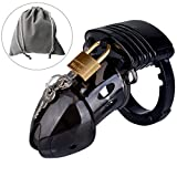 Male Briefs Comfortable device, Black Plasitc Cage Desig Chastit_y, Not Silicone & Alloy material