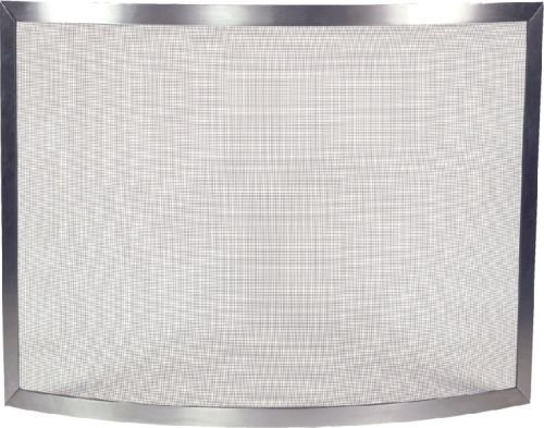 Pewter Brushed Panel Screen with Bowed Design – 31 inch
