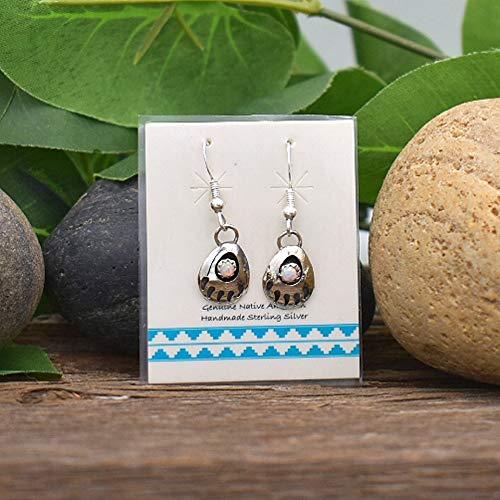 Authentic Native American Handmade 4mm Desert Opal Stud Earrings in 925 Sterling Silver Nickle Free