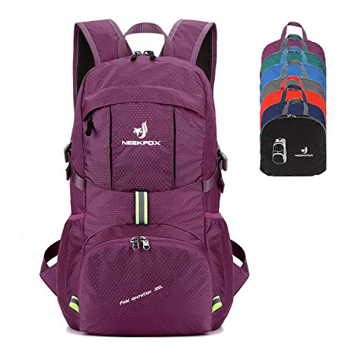 - NEEKFOX Packable Lightweight Hiking Daypack 35L Travel Hiking Backpack for Women Men