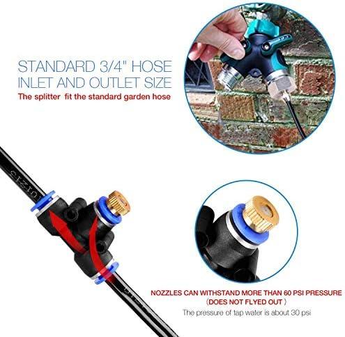 ミスト冷却システム、屋外ミストキット、DIYパティオ灌漑システム、屋外パティオガーデンホーム灌漑またはトランポリン用,23m