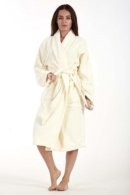 Ladies Bathrobe Womens Bath Robe 100% Egyptian Cotton Dressing Gown ...