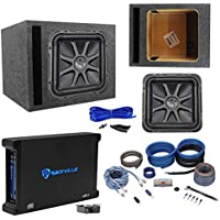 Kicker L7S124 12 Solobaric L7S Car Sub+Vented Enclosure+750W Amplifier+Amp Kit