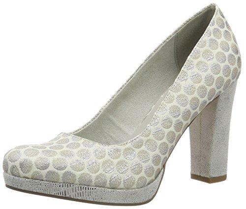 Tamaris 22449, Zapatos de Tacón para Mujer Plateado (SILV DOTS/STRU 969)