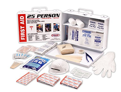 Rapid Care First Aid 166 piece 25 person ANSI/OSHA Metal First Aid Kit (People Metal)