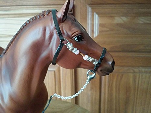 Breyer Peter Stone horse custom halter and lead beads