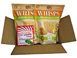 2-Pack Parmesan Whisps Cheese Crisps (9.5oz) and 1 Pouch Ice Chips Xylitol Candy Peppermint (1oz) Bundle in Box