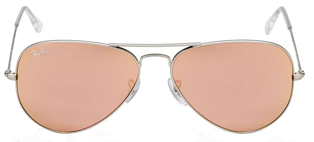 616ab5a75 Amazon.com: New Ray Ban Aviator RB3025 019/Z2 Silver/Crystal Brown Mirror  Pink 58mm Sunglasses: Shoes