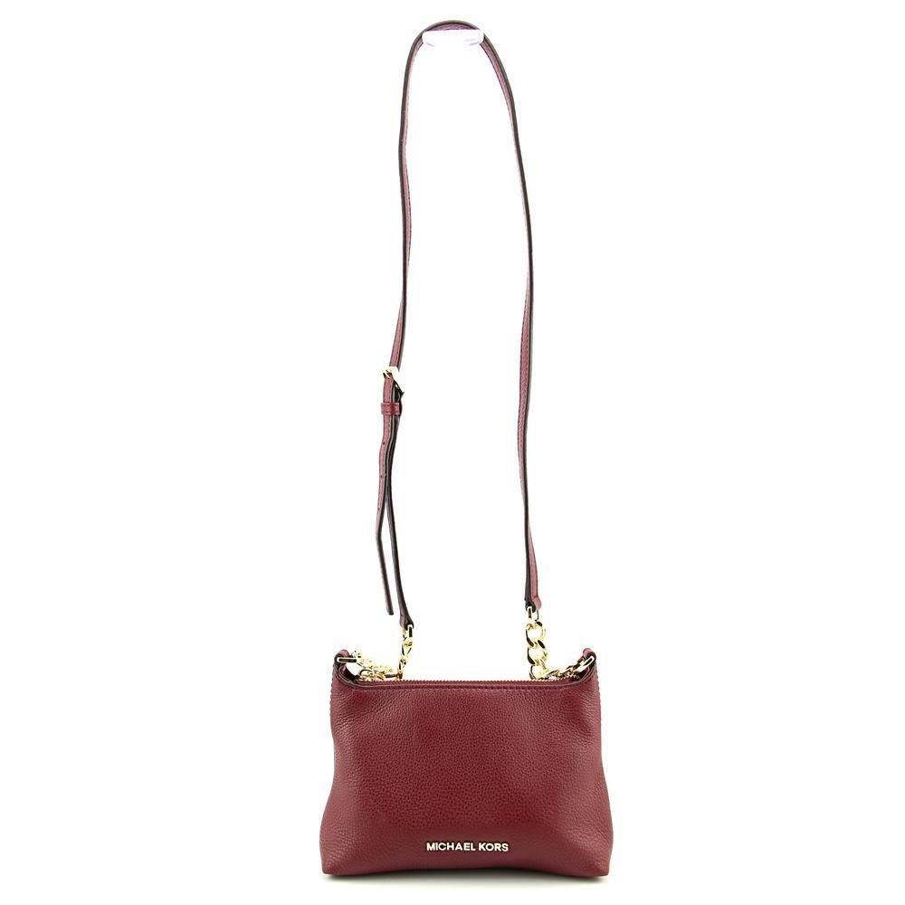 63f463d9810ba MICHAEL Michael Kors Bedford Crossbody Bag in Claret  Handbags  Amazon.com
